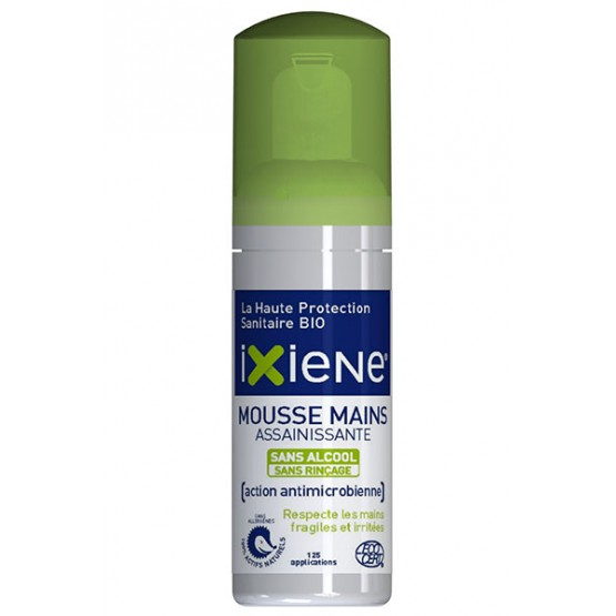 Ixiène mousse mains assainissante 50ML